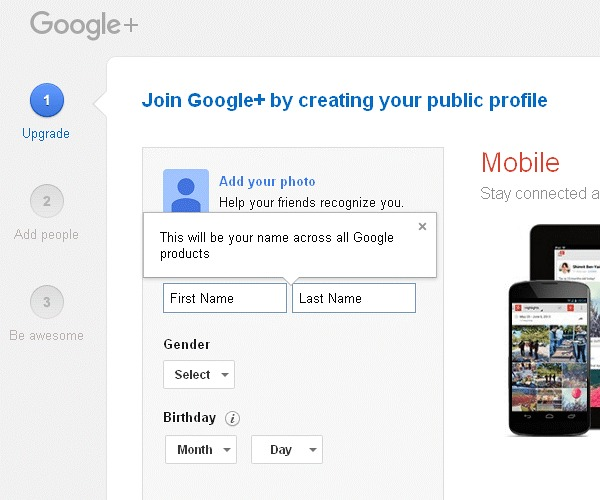 Develop Google Plus Profile