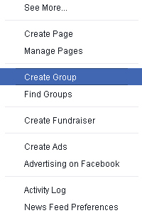 how to setup a new Group on your Facebook page