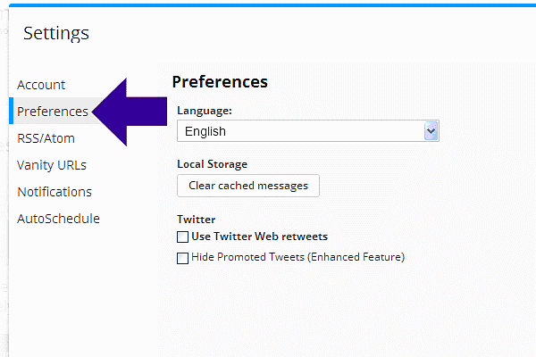 Hootsuite Account Preferences