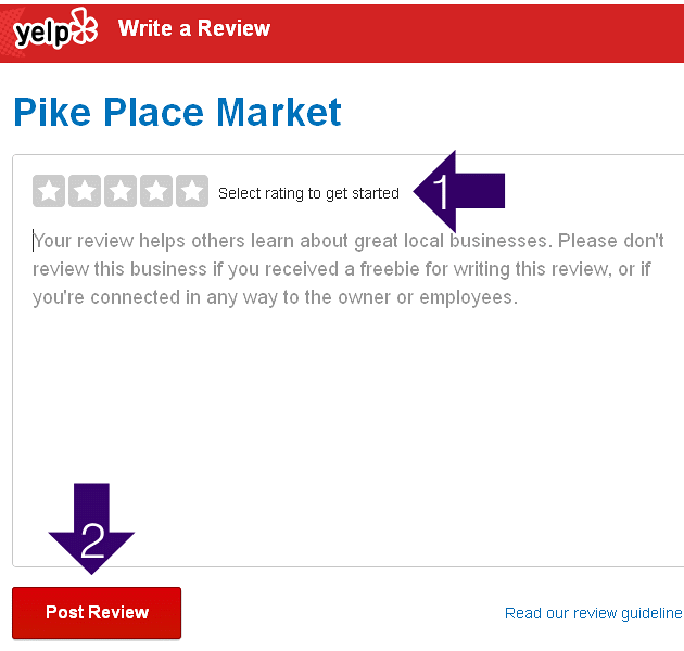 Writing a Review on Yelp