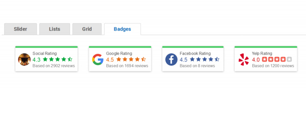 Google Review Badges