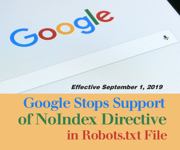 Google Stops Support of NoIndex Directive in Robots.txt File