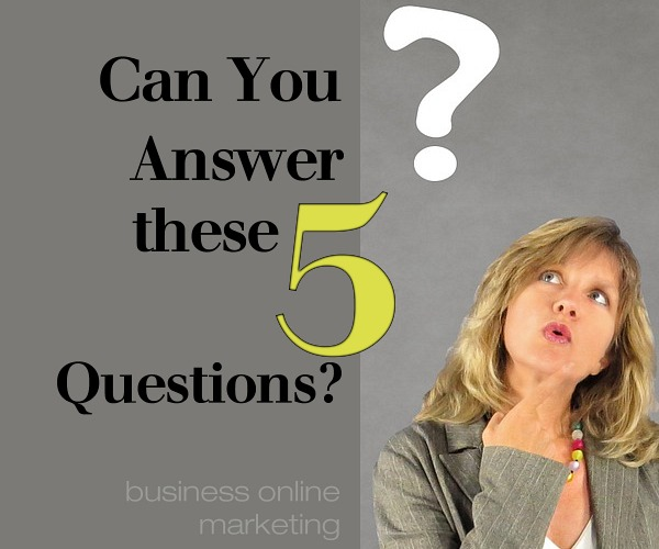 Is Your Business Floating or Treading Water??… 5 quick questions - see if you know the answers!