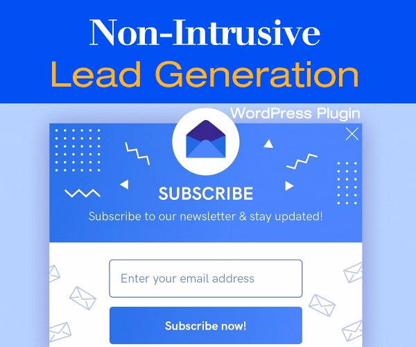 Ramp Up Your Website Lead Generation with this Non-Intrusive Plugin