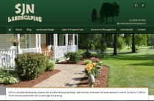 Hosting Connecticut Redesigns Website for SJN Landscaping